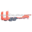low-bed exposed tire semi trailer