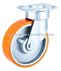 caster with pu wheel cast iron core