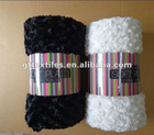 Swirl fur reversible Blanket