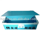 2012 new style PP hollow sheet foldable corrugated plastic box for transport with lid (YF5010)