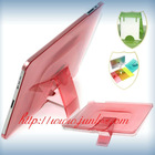 crystal back case stand for ipad2