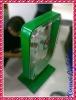 Aluminium frame acrylic money/suggestion/saving box