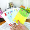 Mini spiral notebook with colored paper