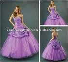 Lilac Taffeta Tulle Ball Evening Party Prom Dress
