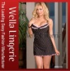 High Quality Pink Lace Stripe Underwired Microfiber Babydoll - Lowest Price Ever!
