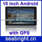 10.1 inch android tablet pc MG105 ( GPS , android 2.1, 2G/256MB, camera )
