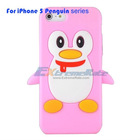 For iPhone 5 Cute Silicone Case Penguin Series