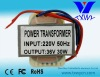 36V 30W single power transformer manufacturer