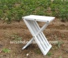 (W-T-0718) white color small wooden table