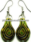 fashion glass earring custom earring ladies earrings designs wholesale glass ear drop india earring earrings 2012new earrings