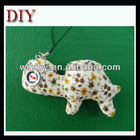 Fabric animal button eyes craft cutemobile phone chain