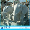 Light Gray Granite Sculpture Elephant