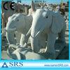 Light Gray Granite Sculpture Elephant