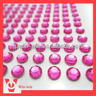 hot pink acrylic rhinestone sticker