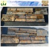 chinese black slate culture stone wall panel