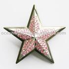 Belt Buckle (Pink RHINESTONES DOUBLE STAR)