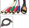 1.5M HDMI Male to 5RCA RGB Audio Video AV Cable