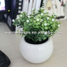 Miniature white small ball glass vase/ pot culture, simulation miniascape