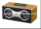 Portable wooden rechargeable speaker with usb sd slot