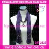 Professional manufacture scarf with pendant