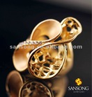 Mesh-Like inlay diamond gold ring designs for girls 2012