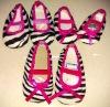 Zebra printed wholesale baby crib shoes