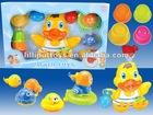 Duck bath toys;safe plastic baby toys