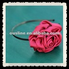 fashion and beautiful satin curling silk rose headbands