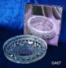 Glass round ashtray