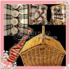 Promotional Natural Wicker Picnic Box 4 persons for christmas