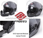 New abs material safety modular helmet with ECE approved and intergrated sun visor FS-503