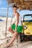 fashion girl's sun-top and skirt