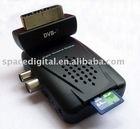 digital terrestrial tv receiver,180 degree ROTABLE SCART HEAD with PVR,Card Slot