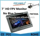 """No Blue Screen FEELWORLD FW769A 7"""" HD FPV Monitor RC helicopter kit w/ Sun Hood"""