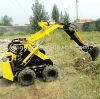2012 New arrival 1T mini skid steer wheel loader with digger for hot sale