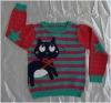 cartoon kids cotton pullover sweater 12GG