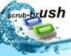 HQ8118 professional cleaning tools iron shape plastic pan brush/nail care brush/bottle brush/floor scrub brush