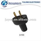 Mexico plastic electric plug ,male electrical plug U103