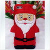 Cute Design 3D Santa Claus Soft Silicon Case for iPhone 5