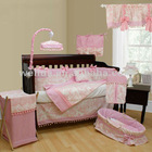 16pcs luxury soft velour pink baby bedding set
