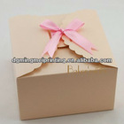 Paper wedding cake boxes with ribbon