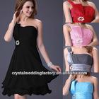 Free shipping one shoulder beaded mini black custom-made homecoming dresses CWFac5011