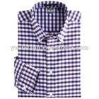 bright color yarn dyed oxford plaid formal shirt for man