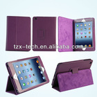 Magnetic leather smart cover case for ipad mini