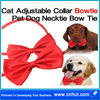 red Cat Adjustable Collar Bowtie Pet Dog Necktie Bow Tie