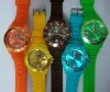 2012 Hot Sale Healthy Fashion Silicone japan movt quartz Watch