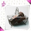 Metal wire gift basket