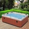 wooden skirt spa tub