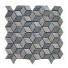 muticolor rhombus natural wall slate mosaic tiles