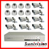 16CH Surveillance CCTV Equipment Camera Security System